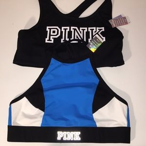 Pink sport bras 2 Large NWT